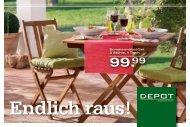 Sommermöbel-Set 2 Stühle, 1 Tisch