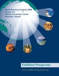 Exhibitor Prospectus - World Brewing Congress