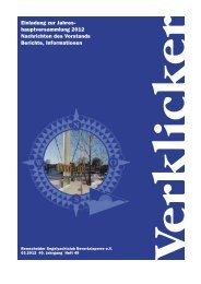 Einladung zur Jahres- hauptversammlung 2012 ... - RSCB