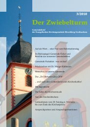 Der Zwiebelturm - Evangelische Kirchengemeinde Hirschberg ...
