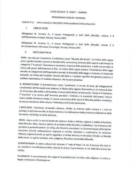 1 ranno scolastico 2U12!2i1113 Prof.ssa Maria Cristina Pascerini