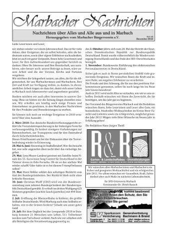 Bürgerverein Marbach eV - FirstCell Medienagentur
