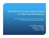 The Effect of Chronic Kidney Disease on Total Knee Arthroplasty