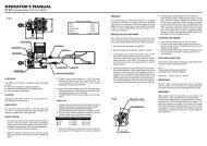 OPERATOR'S MANUAL - YS Engines   YS Parts and Service