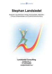 Stephan Landsiedel 13 Vorbereitung pdf - Landsiedel NLP Training