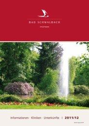 Unterkunftsverzeichnis 2011/2012 (pdf 6555 KB) - Bad Schwalbach