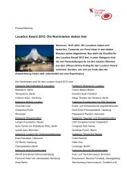 Location Award 2012: Die Nominierten stehen fest - locationportale ...
