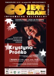 styczeń - 2012 - CO JEST GRANE