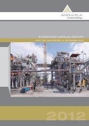 Integrated annual report Dec 2012 - Andulela