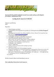 Lørdag den 26. marts kl. 15.00 2011 - KFUM og KFUK i Danmark