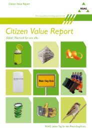 Citizen Value Report Abfall - Rsag