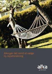 Læs Alkas brochure - ALKA forsikring