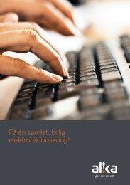 Få én samlet billig elektronikforsikring!