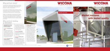 Download brochure Test Centre - Wicona Bausysteme GmbH