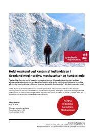 Hold weekend ved kanten af Indlandsisen i Grønland med nordlys ...