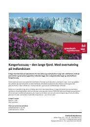 Kangerlussuaq – den lange fjord Med overnatning på Indlandsisen