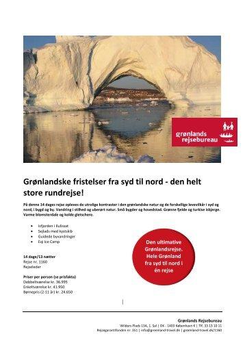 Grønlandske fristelser fra syd til nord - den helt store rundrejse!