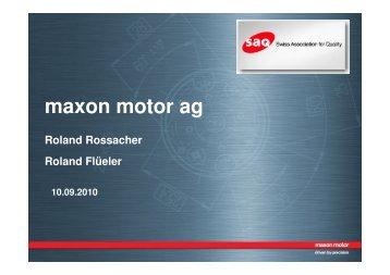 maxon motor ag - SAQ