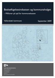 Beskæftigelsesindsatsen og kommunalvalget - Dansk ...
