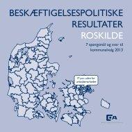 BESKÆFTIGELSESPOLITISKE RESULTATER ROSKILDE - Dansk ...