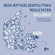 BESKÆFTIGELSESPOLITISKE RESULTATER BALLERUP - Dansk ...