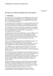 Oversigt over forslag til ændring af provstens opgaver 1 Indledning