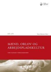 MÆND, ORLOV OG ARBEJDSPLADSKULTUR - Social-, Børne