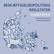 BESKÆFTIGELSESPOLITISKE RESULTATER AABENRAA - Dansk ...