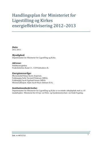 Forma l med ministeriets energieffektivisering