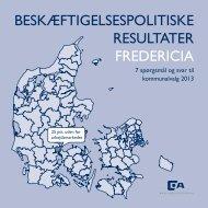 beskæftigelsespolitiske resultater fredericia - Dansk ...