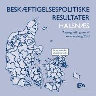 BESKÆFTIGELSESPOLITISKE RESULTATER HALSNÆS - Dansk ...