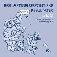 beskæftigelsespolitiske resultater læsø - Dansk Arbejdsgiverforening