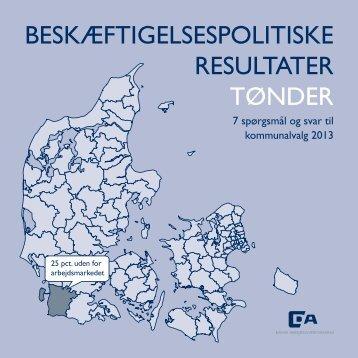 beskæftigelsespolitiske resultater tønder - Dansk Arbejdsgiverforening