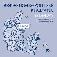 BESKÆFTIGELSESPOLITISKE RESULTATER SYDDJURS - Dansk ...