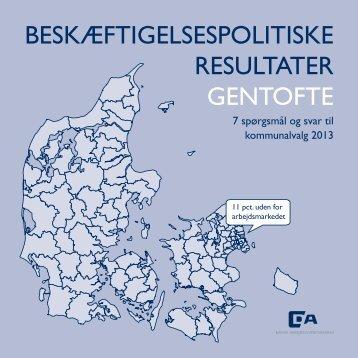 BESKÆFTIGELSESPOLITISKE RESULTATER GENTOFTE - Dansk ...
