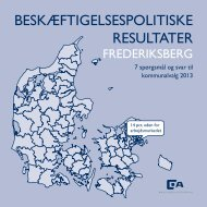 beskæftigelsespolitiske resultater - Dansk Arbejdsgiverforening