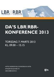 LBR-RBR-Konference program 2013 - DA LBR-RBR - Dansk ...
