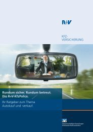 KFZ- VERSICHERUNG Rundum sicher. Rundum betreut. Die R+V ...