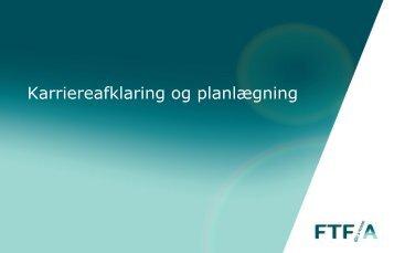 Karriereafklaring og planlægning fra FTF-A - Finansforbundet