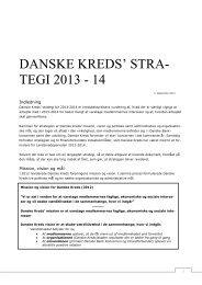 DANSKE KREDS' STRA- TEGI 2013 - 14