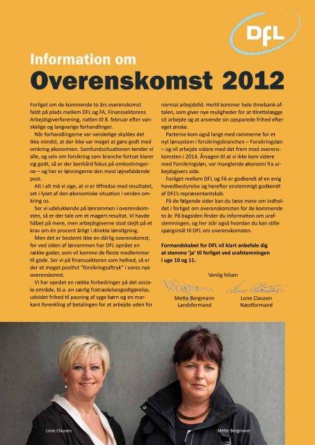 Overenskomst 2012