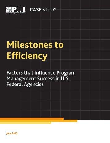 Milestones to Efficiency