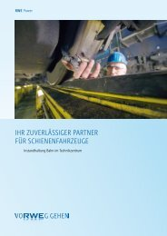 Ihr zuverlässIger Partner für schIenenfahrzeuge - RWE AG