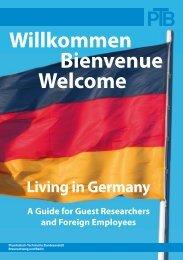 Willkommen Bienvenue Welcome - Physikalisch-Technische - PTB