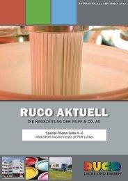 RUCO AKTUELL - Rupf & Co. AG