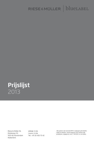 Prijslijst 2013 - Riese und Müller