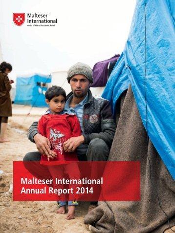 Malteser International Annual Report 2014