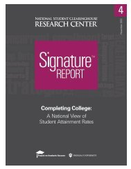 Completing College: A National View of Student Attainment ... - ERIC