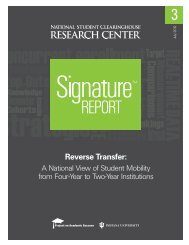 Reverse Transfer - Project on Academic Success - Indiana University
