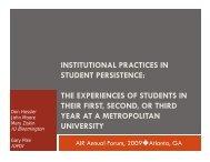 Project on Academic Success - Indiana University